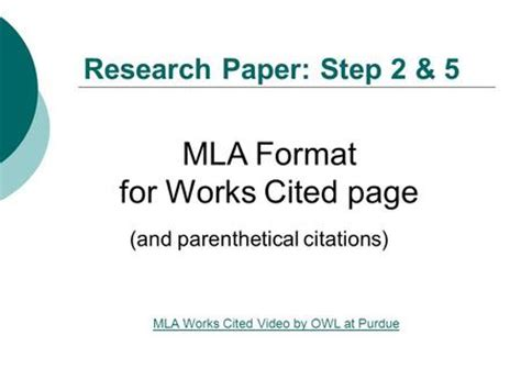 MLA Style for Research Papers: Page Format